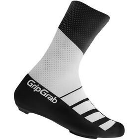GripGrab RaceAero TT Raceday Lycra Copriscarpe in lycra, white/black